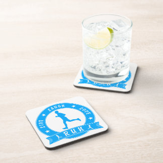 Live Laugh Love RUN male circle (blue) Coaster
