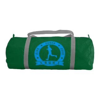 Live Laugh Love RUN male circle (blue) Gym Bag