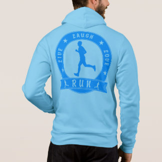 Live Laugh Love RUN male circle (blue) Hoodie