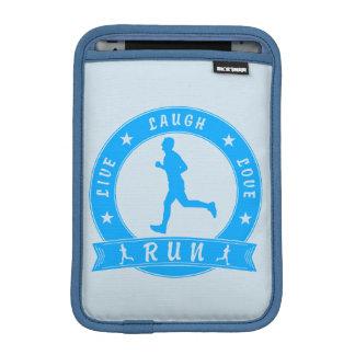 Live Laugh Love RUN male circle (blue) iPad Mini Sleeve