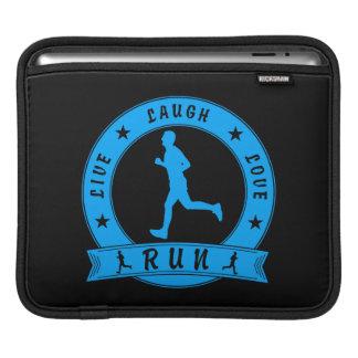Live Laugh Love RUN male circle (blue) iPad Sleeve