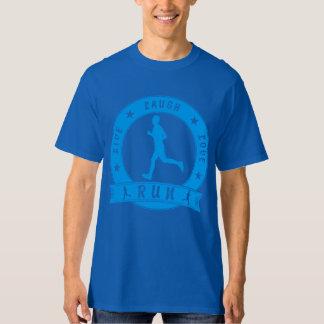 Live Laugh Love RUN male circle (blue) T-Shirt