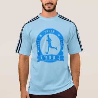 Live Laugh Love RUN male circle (blue) T-Shirt