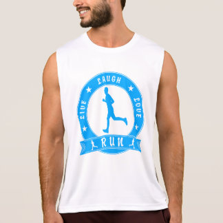 Live Laugh Love RUN male circle (blue) Tank Top