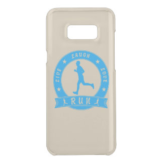 Live Laugh Love RUN male circle (blue) Uncommon Samsung Galaxy S8 Plus Case
