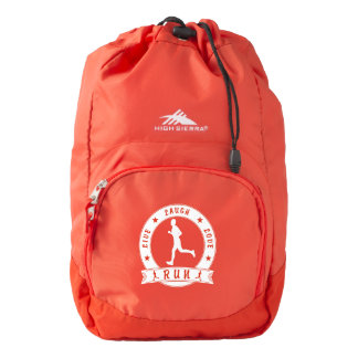 Live Laugh Love RUN male circle (wht) Backpack