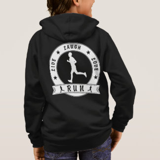 Live Laugh Love RUN male circle (wht) Hoodie