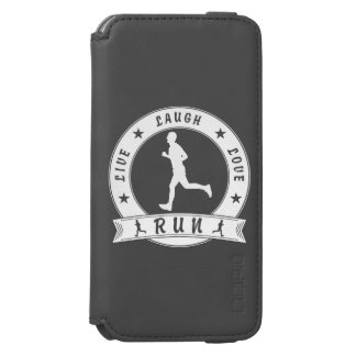 Live Laugh Love RUN male circle (wht) Incipio Watson™ iPhone 6 Wallet Case