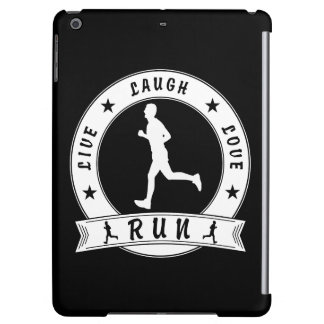 Live Laugh Love RUN male circle (wht) iPad Air Case