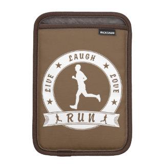 Live Laugh Love RUN male circle (wht) iPad Mini Sleeve