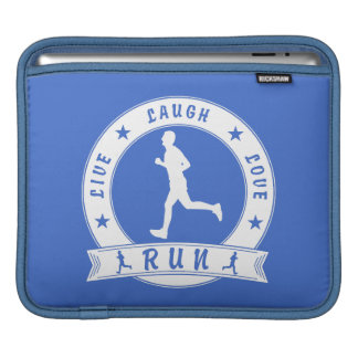 Live Laugh Love RUN male circle (wht) iPad Sleeve