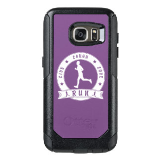 Live Laugh Love RUN male circle (wht) OtterBox Samsung Galaxy S7 Case