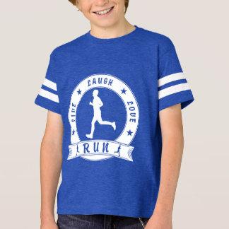 Live Laugh Love RUN male circle (wht) T-Shirt