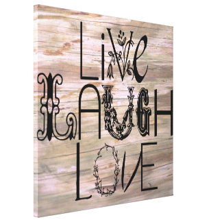 Live laugh love rustic wooden sign wall canvas
