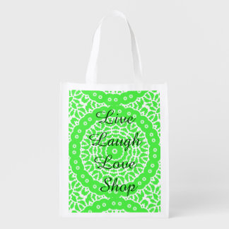 Live,Laugh,Love, Shop Reusable Grocery Bag