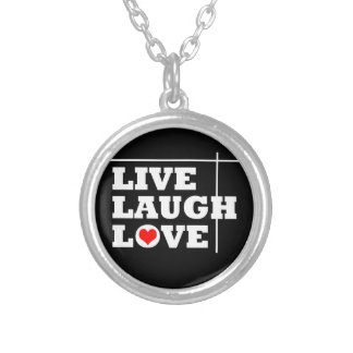 Live, Laugh, Love Silver Plated Necklace