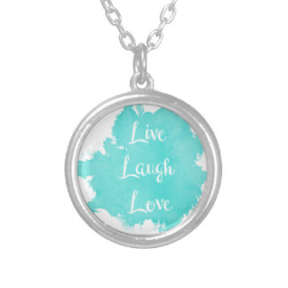 Live Laugh Love Silver Plated Necklace
