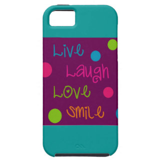 Live, Laugh, Love, Smile Polka Dots iPhone 5 Cover