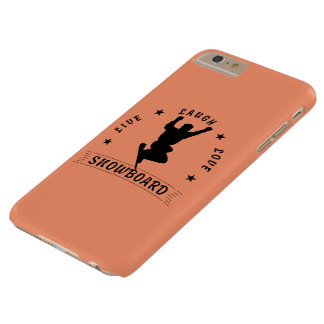 Live Laugh Love SNOWBOARD 2 black text Barely There iPhone 6 Plus Case