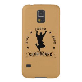 Live Laugh Love SNOWBOARD 2 black text Galaxy S5 Cases