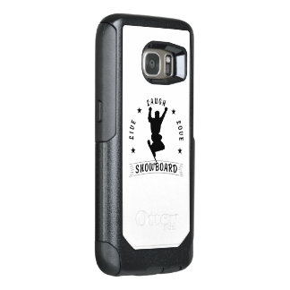 Live Laugh Love SNOWBOARD 2 black text OtterBox Samsung Galaxy S7 Case
