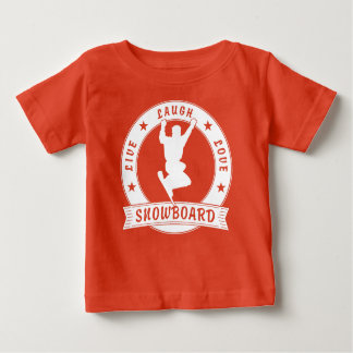 Live Laugh Love SNOWBOARD 2 Circle Baby T-Shirt