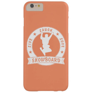 Live Laugh Love SNOWBOARD 2 Circle Barely There iPhone 6 Plus Case