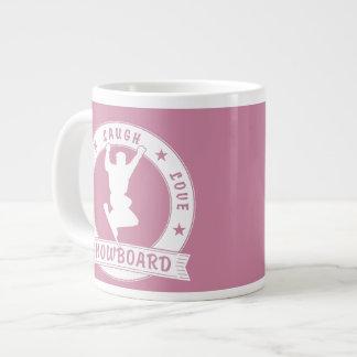Live Laugh Love SNOWBOARD 2 Circle Giant Coffee Mug
