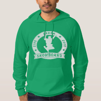 Live Laugh Love SNOWBOARD 2 Circle Hoodie