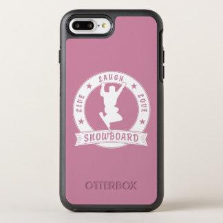 Live Laugh Love SNOWBOARD 2 Circle OtterBox Symmetry iPhone 8 Plus/7 Plus Case