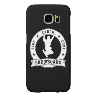 Live Laugh Love SNOWBOARD 2 Circle Samsung Galaxy S6 Cases