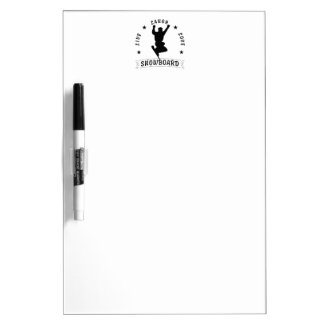 Live Laugh Love SNOWBOARD black text Dry-Erase Boards