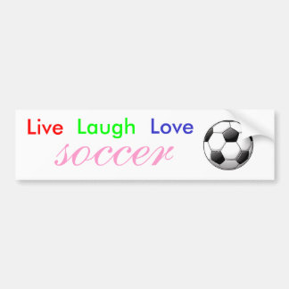 Live Laugh Love Soccer Bumper Sticker