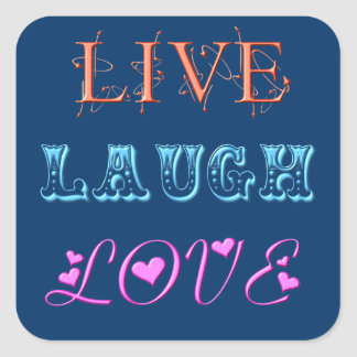 Live Laugh Love Square Stickers