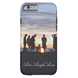 Live Laugh Love Sunset Beach Bonfire Phone Case