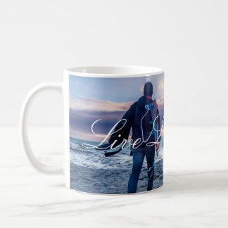 Live Laugh Love Sunset Beach Mug