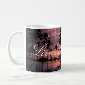 Live Laugh Love Sunset Ocean Mug
