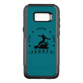 Live Laugh Love Surf 3 BlackText OtterBox Commuter Samsung Galaxy S8+ Case
