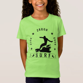Live Laugh Love Surf 3 BlackText T-Shirt