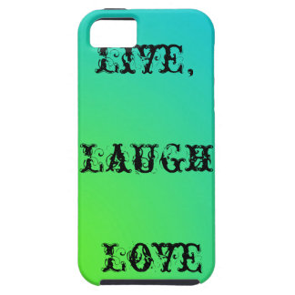 Live,laugh,love teal and lime green iPhone 5 cover