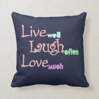 Live - Laugh - Love Throw Pillow