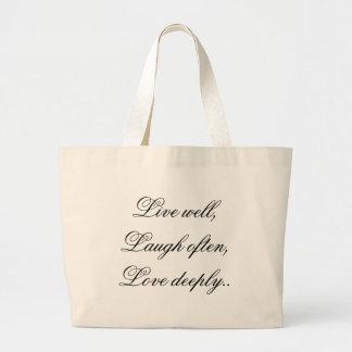 Live Laugh Love Tote Jumbo Tote Bag