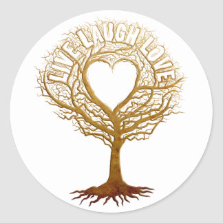 Live Laugh Love - Tree of Life Classic Round Sticker