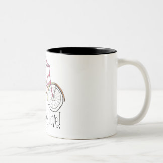Live, Laugh, Love! Two-Tone Coffee Mug
