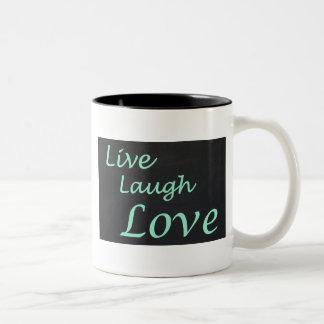 Live Laugh Love Two-Tone Coffee Mug