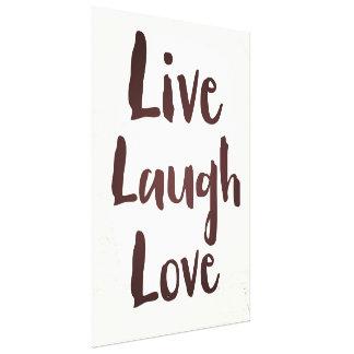Live Laugh Love vintage inspirational quote Canvas Print