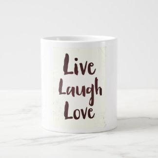 Live Laugh Love vintage inspirational quote Large Coffee Mug