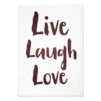 Live Laugh Love vintage inspirational quote Photo Print