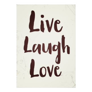 Live Laugh Love vintage inspirational quote Poster