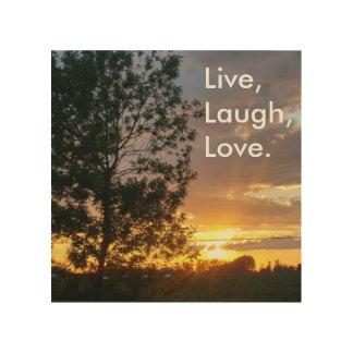 Live, Laugh, Love wooden wall art Wood Print